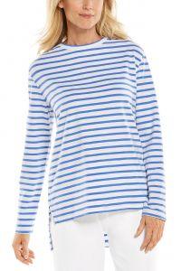 Coolibar---UV-Shirt-für-Damen---Carington-Tee---Blau/Weiß