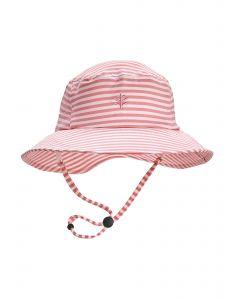 Coolibar---UV-Bucket-Hut-für-Mädchen---Caspian---Rosa/Weiß