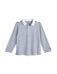 Coolibar---UV-Polo-Shirt-für-Kleinkinder---Langärmlig---Coppitt---Weiß/Navy