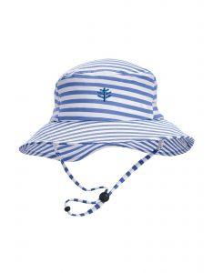 Coolibar---UV-Bucket-Hut-für-Jungen---Caspian---Blau/Weiß