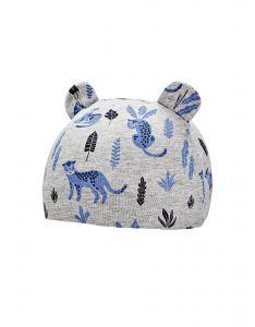Coolibar---UV-schützende-Babymütze---Critter-Fauna---Grau/Leopard
