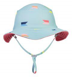 Snapper-Rock---Wendbarer-UV-Bucket-Hut-für-Jungen---Maritieme-Fliers---Hellblau/Koralle