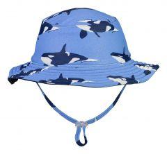 Snapper-Rock---Wendbarer-UV-Bucket-Hut-für-Jungen---Orca-Ocean---Blau/Dunkelblau