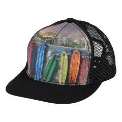 Molo---Baseballcap-für-Kinder---Rainbow-Boards---Schwarz
