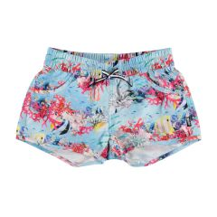 Molo---UV-Badeshorts-für-Mädchen---Nalika---Coral-Stripe
