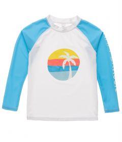 Snapper-Rock---UV-Rash-Top-für-Jungen---Langarm---Sunset-Stripe---Weiß/Hellblau-