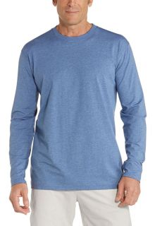 Coolibar---UV-Shirt-für-Herren---Langärmlig---Morada---Pacific-Blau