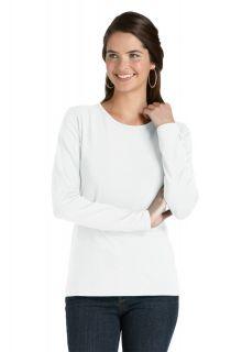 Coolibar---UV-Shirt-for-women---Longsleeve---Morada---White