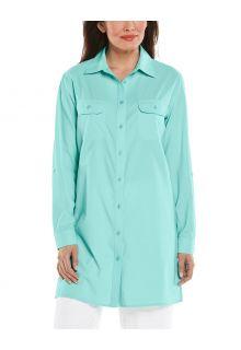 Coolibar---UV-Shirt-für-Damen---Santorini-Tunikabluse---Seekristall
