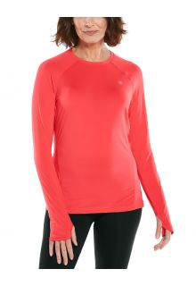 Coolibar---UV-Fitness-Top-für-Damen---Langärmlig---Devi---Prism-Pink
