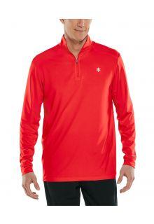Coolibar---UV-Sporttrikot-für-Herren---Agility-Performance---Rot