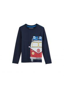 Coolibar---UV-Langarmshirt-für-Kinder---Vintage-Van---Dunkelblau