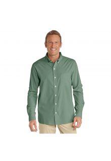 Coolibar---UV-Shirt-für-Herren---Aricia-Sun-Shirt---Olivgrün