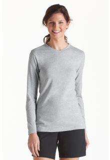 Coolibar---UV-Shirt-für-Damen---V-Neck-Langärmlig---Morada---Grau