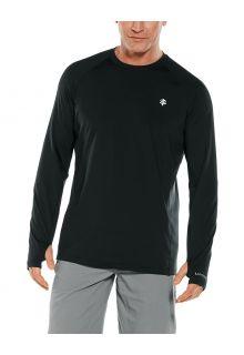 Coolibar---UV-Sportshirt-für-Herren---Langarmshirt---Agility-Performance---Schwarz
