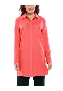 Coolibar---UV-Shirt-für-Damen---Santorini-Tunikabluse---Living-Coral