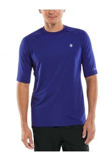 Coolibar---UV-Sportshirt-für-Herren---Agility-Performance---Dunkelblau