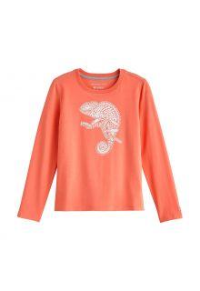 Coolibar---UV-Shirt-für-Kinder---Langarmshirt---Coco-Plum-Grafik---Soft-Coral
