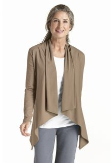 Coolibar---UV-Damenjacke---taupe