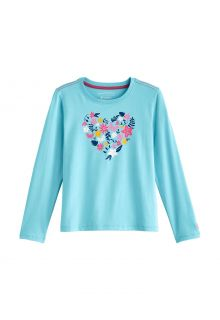 Coolibar---UV-Shirt-für-Kinder---Langarmshirt---Coco-Plum-Grafik---Eisblau