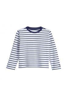 Coolibar---UV-Shirt-für-Kleinkinder---Langarmshirt---Coco-Plum---Weiß/Navy