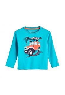 Coolibar---UV-Shirt-für-Kleinkinder---Langarmshirt---Coco-Plum-Grafik---Türkis