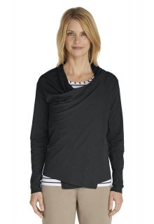 Coolibar---UV-Damenjacke---schwarz