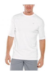 Coolibar---UV-Sportshirt-für-Herren---Agility-Performance---Weiß
