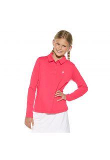 Coolibar---UV-Polo-für-Mädchen---Pink