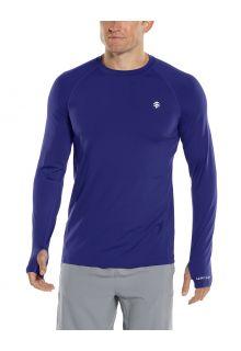 Coolibar---UV-Sportshirt-für-Herren---Langarmshirt---Agility-Performance---Dunkelblau