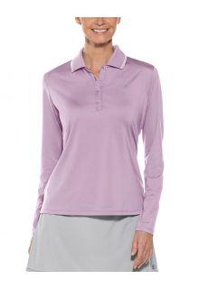 Coolibar---UV-Sport-Polo-für-Damen---Langarm---Prestwick-Golf---Lavendel