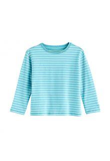 Coolibar---UV-Shirt-für-Kleinkinder---Langarmshirt---Coco-Plum---Eisblau/Weiß