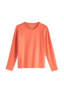 Coolibar---UV-Shirt-für-Kinder---Langarmshirt---Coco-Plum---Soft-Coral