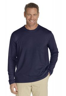 Coolibar---Langarm-UV-Shirt-Herren---Dunkel-blau