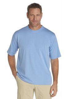 Coolibar---UV-Schutz-T-Shirt-Herren---leuchtend-blau