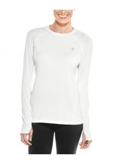 Coolibar---UV-Fitness-Top-für-Damen---Langärmlig---Devi---Weiß