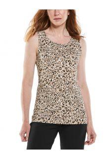 Coolibar---UV-Tank-Top-für-Damen---Morada-Everyday---Dunkel-Taupe-Cheetah