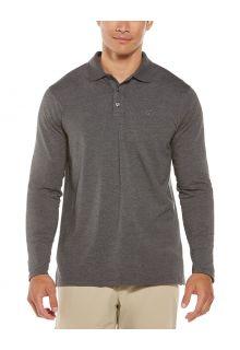 Coolibar---UV-Poloshirt-für-Herren---Langärmlig---Coppitt---Holzkohle