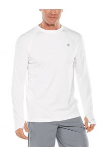 Coolibar---UV-Sportshirt-für-Herren---Langarmshirt---Agility-Performance---Weiß