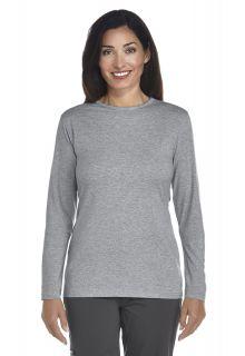 Coolibar---Langarm-UV-Shirt-Damen---grau