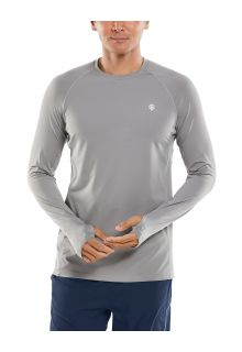 Coolibar---UV-Sportshirt-für-Herren---Langarmshirt---Agility-Performance---Grau