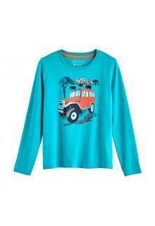 Coolibar---UV-Shirt-für-Kinder---Langarmshirt---Coco-Plum-Grafik---Türkis