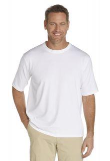 Coolibar---UV-Schutz-T-Shirt-Herren---weiss