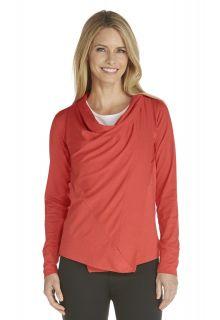 Coolibar---UV-Damenjacke---Sienna-Rot