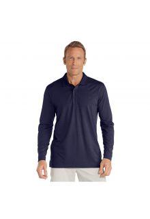 Coolibar---UV-Poloshirt-für-Herren---Langärmlig---Coppitt---Navy