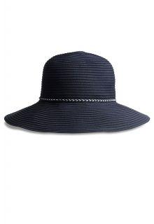 Coolibar---UV-Bucket-Hut-für-Damen---Marineblau