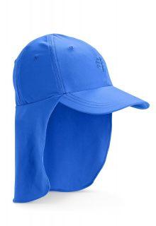 Coolibar---UV-Sonnenkappe-mit-Nackenschutz-für-Kinder---Blau