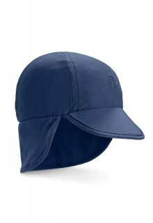Coolibar---UV-Sonnenkappe-mit-Nackenschutz-für-Babys---Splashy---Navy
