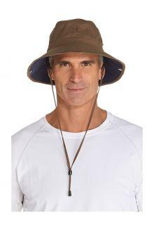 Coolibar---Federleichter-UV-Bucket-Hut-für-Herren---Chase---Khaki/Navy