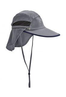Coolibar---Verstellbare-UV-Angelkappe-für-Herren---Calec---Carbon/Schwarz